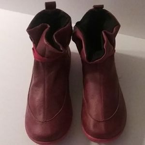 Womens RED Ankle boot bootie shoes